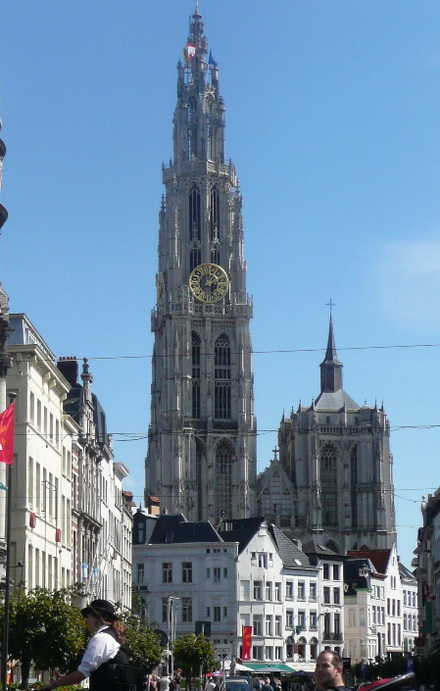 Cathedral With Unfinished Tower. Antwerp. Belgium